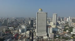 Lebua State Tower Aerial  Stock Footage