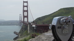 View of bridge from tourist spot Stock Footage