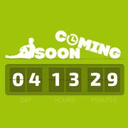 Comming soon with countdown timer - stock illustration