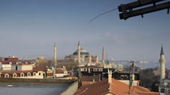 The roof of the mosque and TV Antenna - stock footage