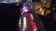 Aerial Chinese New Year - stock footage