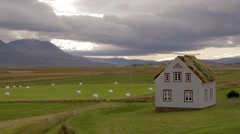 museum of traditional icelandic houses - stock footage