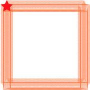 Photo frame of stars Stock Illustration