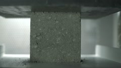Concrete Brick Pressure Test Stock Footage
