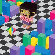 geek boy invasion video game asset isometric - stock illustration