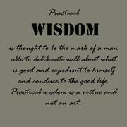 Aristotle Quotes. Practical wisdom is thought Stock Illustration