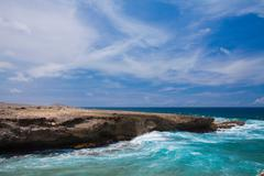 Seascape, Palm Beach, Oranjestad, Aruba - stock photo
