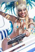 Samba dancer riding cart, Rio De Janeiro, Brazil Kuvituskuvat