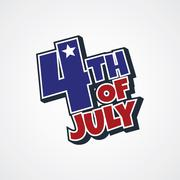 4th of july sign Stock Illustration