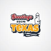 texas vacation greetings theme - stock illustration