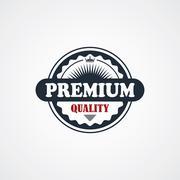 Premium signature label theme Stock Illustration