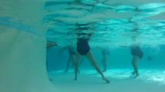 Seniors Doing Water Aerobics Stock Footage