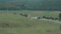 Landscape Panorama. the Road Down - stock footage