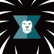Lion head template Stock Illustration