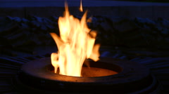 Memorial Flame. monument World of war Stock Footage
