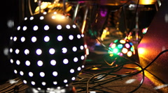 Stage ambient on a concert. Light ball. - stock footage