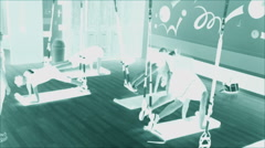 Workout In Indoor Fitness Center Stock Footage