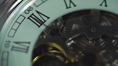 Clock, eternal mechanism. Time passing quickly. The history of human life Stock Footage