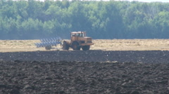 Plowing. Agriculture. Work in the Field Stock Footage