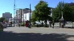 Christchurch High Street New Zealand Stock Footage