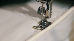 Sewing Machine in Work. Sewing process Stock Footage