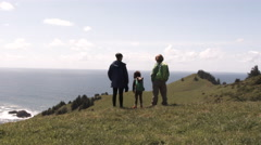 Pacific Crest Trail Hiking Family Stock Footage