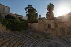 Ancient Greek ampitheatre, Lecce, Puglia, Italy Stock Photos