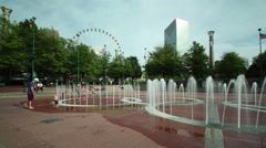 Time lapse shot of Centennial Olympic Park in Atlanta, Georgia Stock Footage
