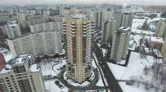 Aerial shot of High Buildings in Moscow. Russia. Stock Footage
