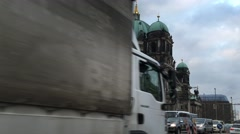 Berlin Cathedral Church. Berliner Dom. Stock Footage