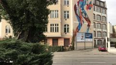 Berlin Graffiti of Woman. Stock Footage