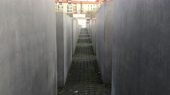 Memorial to the Murdered Jews of Europe. Panorama. Berlin. Stock Footage