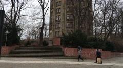 Prenzlauer Berg Museum. Berlin. Tower. Prenzlauer Berg. Walking people. Stock Footage