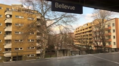 Berlin metro S Bahn from the window of the train Stock Footage