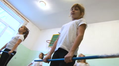 Girls in Gym Class. Children, Scool, Education Stock Footage