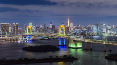 Tokyo Bay Time Lapse Stock Footage