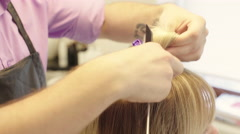 Stabs Hair Barrette Close up Stock Footage