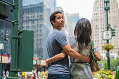 Couple sightseeing - stock photo