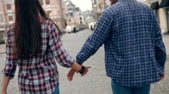 Young Couple Walking, Bump Hips Together- Dancing Stock Footage