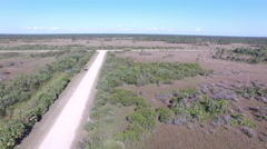 Aerial of Big Cypress National Preserve Stock Footage