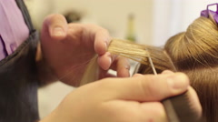 Hairdresser Dye the Hair Stock Footage