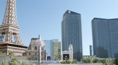 Las Vegas Nevada Static Shot of Hotel Buildings on The Strip Stock Footage