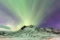 Northern Lights Aurora - stock photo