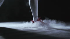 Fencing in studio in slowmotion Stock Footage