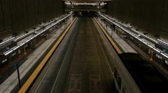 Light Rail, Subway, Train, Station, Seattle - stock footage