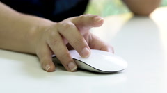 Woman Hand Using a Computer Mouse - stock footage