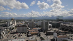 Downtown Anchorage Lapse Stock Footage