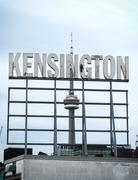 Kensington Market Sign Toronto Kuvituskuvat