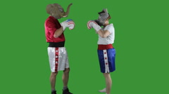 Political parties ready to spar - stock footage