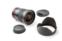 Lens for SLR camera - stock photo